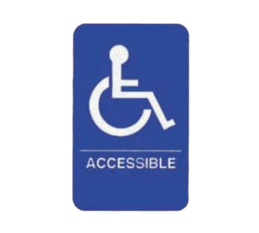 "Tablecraft Cash & Carry Sign ""Accessible"""