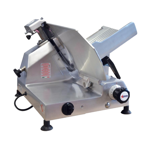 "Omcan Manual Meat Slicer 13"" Diameter Carbon Steel Blade"