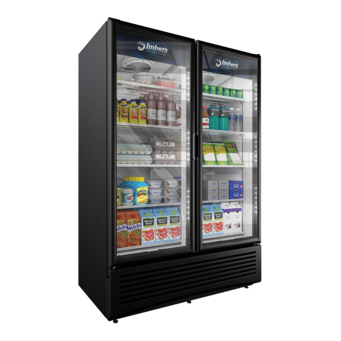 "Omcan 54"" Wide Reach-In Two Section Refrigerated Merchandiser"