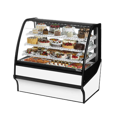 "superior-equipment-supply - True Food Service Equipment - True White Powder Coated 48""W Refrigerated Display Merchandiser With PVC Coated Wire Shelving"