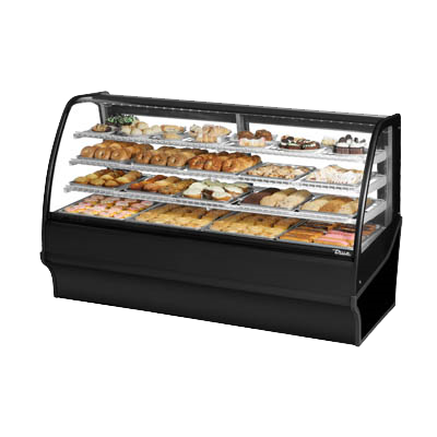 "superior-equipment-supply - True Food Service Equipment - True Black Powder Coated Non-Refrigerated Three Shelf Merchandiser 77""W"