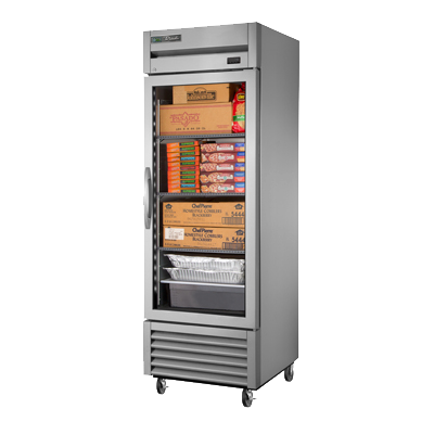 superior-equipment-supply - True Food Service Equipment - True Stainless Steel One Section One Glass Door Reach-In Freezer
