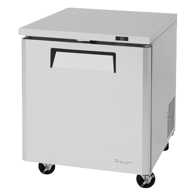 "superior-equipment-supply - Turbo Air - Turbo Air 27.5"" Wide Stainless Steel One-Section Undercounter Refrigerator"