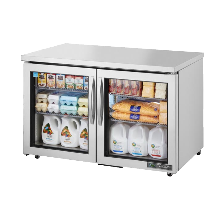 "superior-equipment-supply - True Food Service Equipment - True Stainless Steel Two Door ADA Compliant 48"" Wide Refrigerator Undercounter"