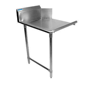 "superior-equipment-supply - BK Resources - BK Dishtable Straight Design, 72""W x 30-7/8""D x 46-1/4""H, Stainless Steel"