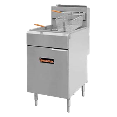 superior-equipment-supply - MVP Group - Sierra Stainless Steel Liquid Propane Full Pot Fryer 75-80 lbs. Capacity