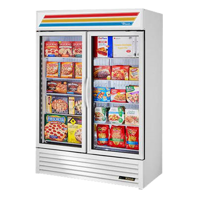 "Refurbished True True 54"" Two Section Freezer Merchandiser"
