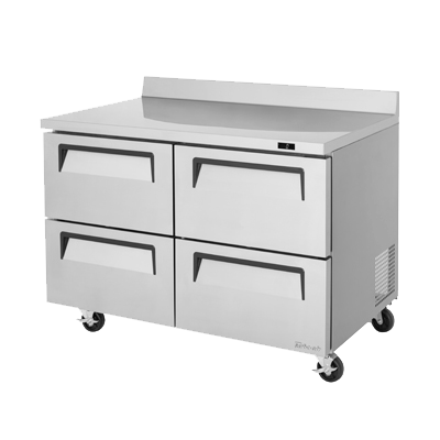 "superior-equipment-supply - Turbo Air - Turbo Air Stainless Steel 48.25"" Wide Super Deluxe Worktop Freezer"