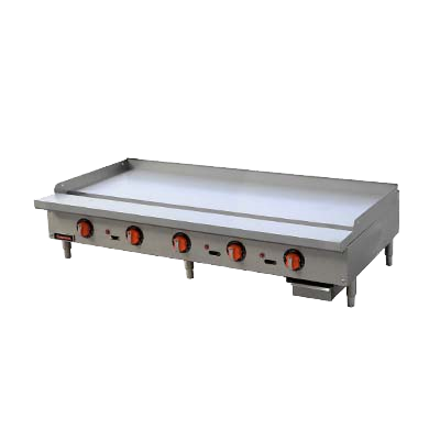 "superior-equipment-supply - MVP Group - Sierra Stainless Steel Countertop Five Burner Gas Griddle 60""W"