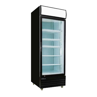superior-equipment-supply - MVP Group - Kool-It One Section One Glass Door Black Powder-Coated Refrigerated Merchandiser
