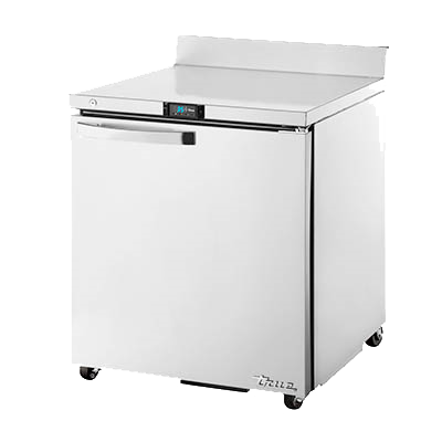 "superior-equipment-supply - True Food Service Equipment - True Stainless Steel One Door ADA Compliant Work Top Refrigerator 27""W"