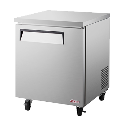 "superior-equipment-supply - Turbo Air - Turbo Air 27.5"" Wide Aluminium One-Section Undercounter Refrigerator"