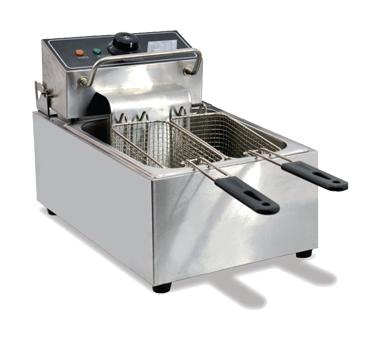 Omcan Stainless Steel 13 lb. Capacity Electric Countertop Fryer