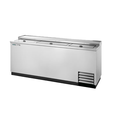 "superior-equipment-supply - True Food Service Equipment - True Stainless Steel Exterior Bottle Cooler 80""W"