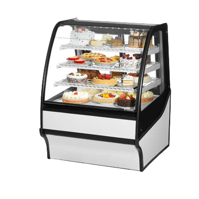 "superior-equipment-supply - True Food Service Equipment - True Stainless Steel 36"" Refrigerated Display Merchandiser With PVC Coated Wire Shelving"
