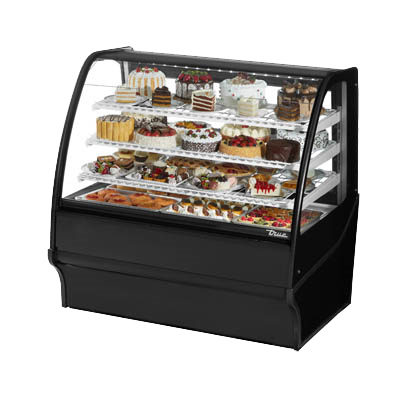 "superior-equipment-supply - True Food Service Equipment - True Black Powder Coated 48""W Refrigerated Display Merchandiser With PVC Coated Wire Shelving"