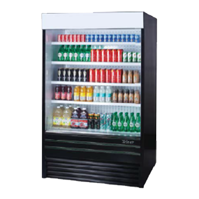 superior-equipment-supply - Turbo Air - Turbo Air 24.1 Cubic Feet Black Vertical Merchandiser