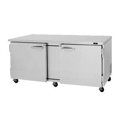"superior-equipment-supply - Turbo Air - Turbo Air 72.6"" Wide Stainless Steel Two-Section Undercounter Refrigerator"