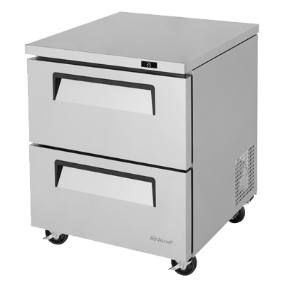 "superior-equipment-supply - Turbo Air - Turbo Air 27.5"" Wide Stainless Steel One Section Undercounter Refrigerator"