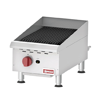 "Omcan Natural Gas Charbroiler 15"" Wide"