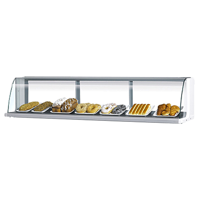 "superior-equipment-supply - Turbo Air - Turbo Air 63.25"" Wide White Stainless Steel Low Top Display Merchandiser"