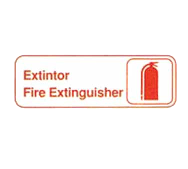 "Tablecraft Cash & Carry Sign ""Extintor/Fire Extinguisher"""