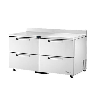 "superior-equipment-supply - True Food Service Equipment - True Stainless Steel Two Section Four Drawer ADA Compliant Work Top Refrigerator 60""W"