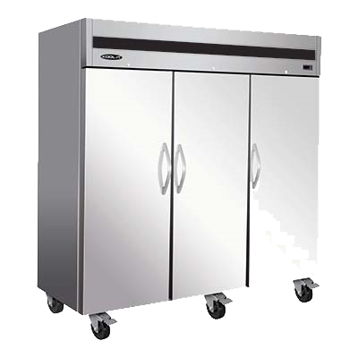 "superior-equipment-supply - MVP Group - IKON Stainless Steel Reach-In Three Section Three Solid Door Freezer 81""W"