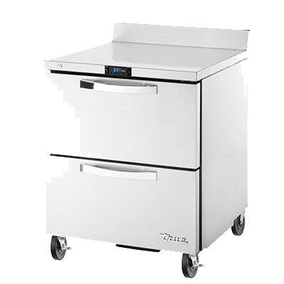 "superior-equipment-supply - True Food Service Equipment - True Stainless Steel One Section Work Top Refrigerator 27""W"