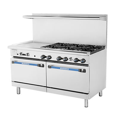 "superior-equipment-supply - Turbo Air - Turbo Air 36"" Wide Stainless Steel Restaurant Range With 24"" Griddle"