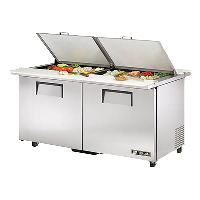 "superior-equipment-supply - True Food Service Equipment - True Stainless Steel Two Door ADA Complaint Mega Top Sandwich/Salad Unit 60""W"