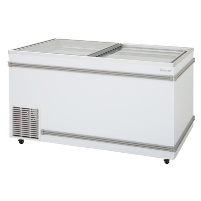 "superior-equipment-supply - Turbo Air - Turbo Air White Steel Top Open Island 58"" Wide Chest Freezer"