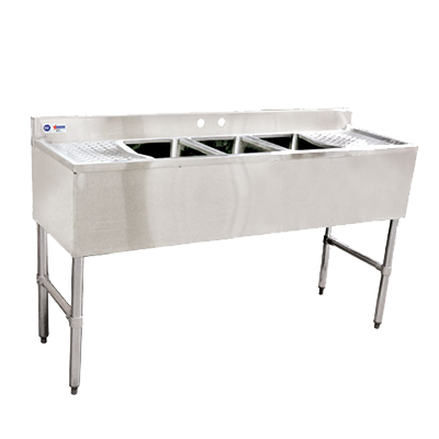Omcan 3 Compartment Underbar Sink