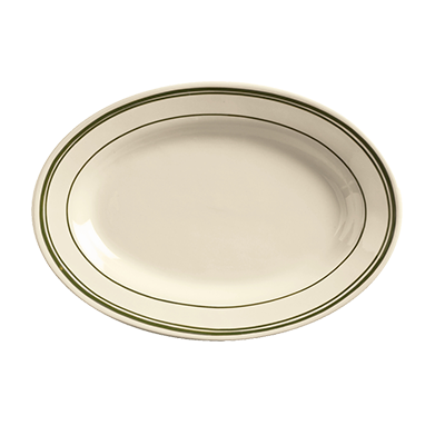 "superior-equipment-supply - World Tableware Inc - World Tableware Viceroy Oval Platter Cream White Stoneware 12-1/2"" x 8-3/4"" - 36/Case"