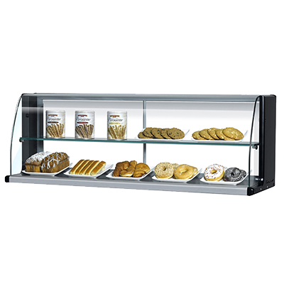 "superior-equipment-supply - Turbo Air - Turbo Air 75.6"" Wide Black Stainless Steel High Top Display Merchandiser"