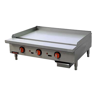 "superior-equipment-supply - MVP Group - Sierra Stainless Steel Countertop Three  Burner Gas Griddle 36""W"