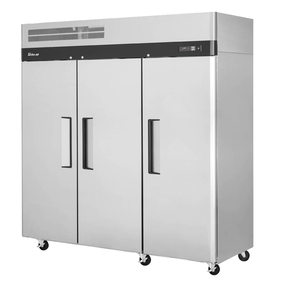 "superior-equipment-supply - TURAIR - Turbo Air 77.75"" Wide Three-Section Stainless Steel Reach-In Freezer"