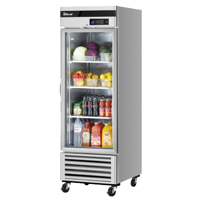 "superior-equipment-supply - Turbo Air - Turbo Air 27"" Wide Stainless Steel One-Section Glass Door Refrigerator"