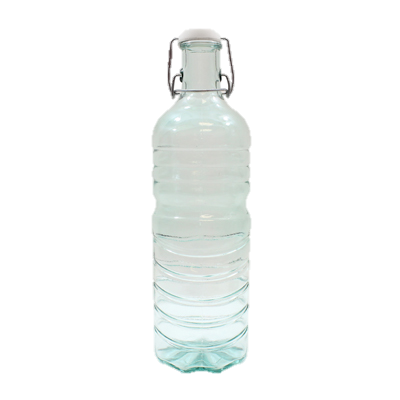 Tablecraft Authentic Collection Recycled Green Tint Glass Water Bottle 50 oz. With Plastic Stopper
