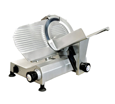 "Omcan Manual Meat Slicer 10"" Diameter Carbon Steel Blade"
