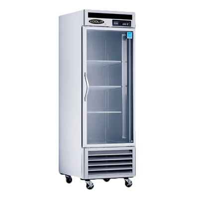 "superior-equipment-supply - MVP Group - Kool-It Stainless Steel One Section Glass Door Reach-In Refrigerator 26.8""W"