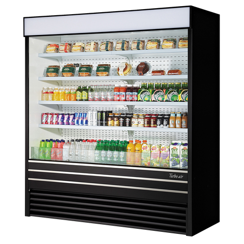 superior-equipment-supply - Turbo Air - Turbo Air 48.3 Cubic Feet Black Vertical Open Display Merchandiser