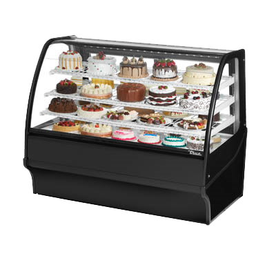 "superior-equipment-supply - True Food Service Equipment - True Black Powder Coated 59""W Refrigerated Display Merchandiser With PVC Coated Wire Shelving"