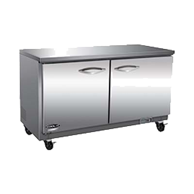 "superior-equipment-supply - MVP Group - IKON Stainless Steel Two Section Undercounter Refrigerator 61.2""W"
