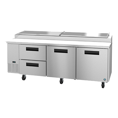"superior-equipment-supply - Hoshizaki - Hoshizaki Stainless Steel Pizza Prep Table 93"" Wide With Four Drawers & One Solid Door"