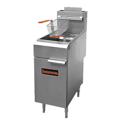 superior-equipment-supply - MVP Group - Sierra Stainless Steel Full Pot Natural Gas Fryer 35-40 lbs. Capacity