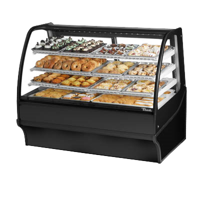 "superior-equipment-supply - True Food Service Equipment - True Black Powder Coated  Non-Refrigerated Three Shelf Merchandiser 59""W"