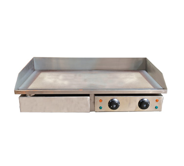 "Omcan 29"" Wide Electric Countertop Griddle With 28-1/2"" x 15-3/4"" Cooking Area"