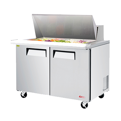 "superior-equipment-supply - Turbo Air - Turbo Air 48.25"" Wide Aluminium Two-Section Sandwich/Salad Mega Top Unit"