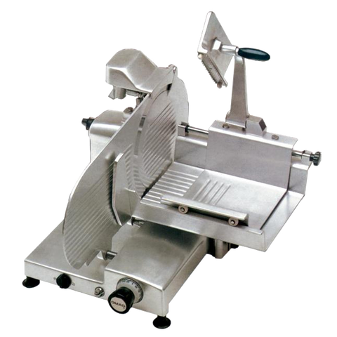 "Omcan Manual Meat Slicer 12"" Diameter Carbon Steel Blade"